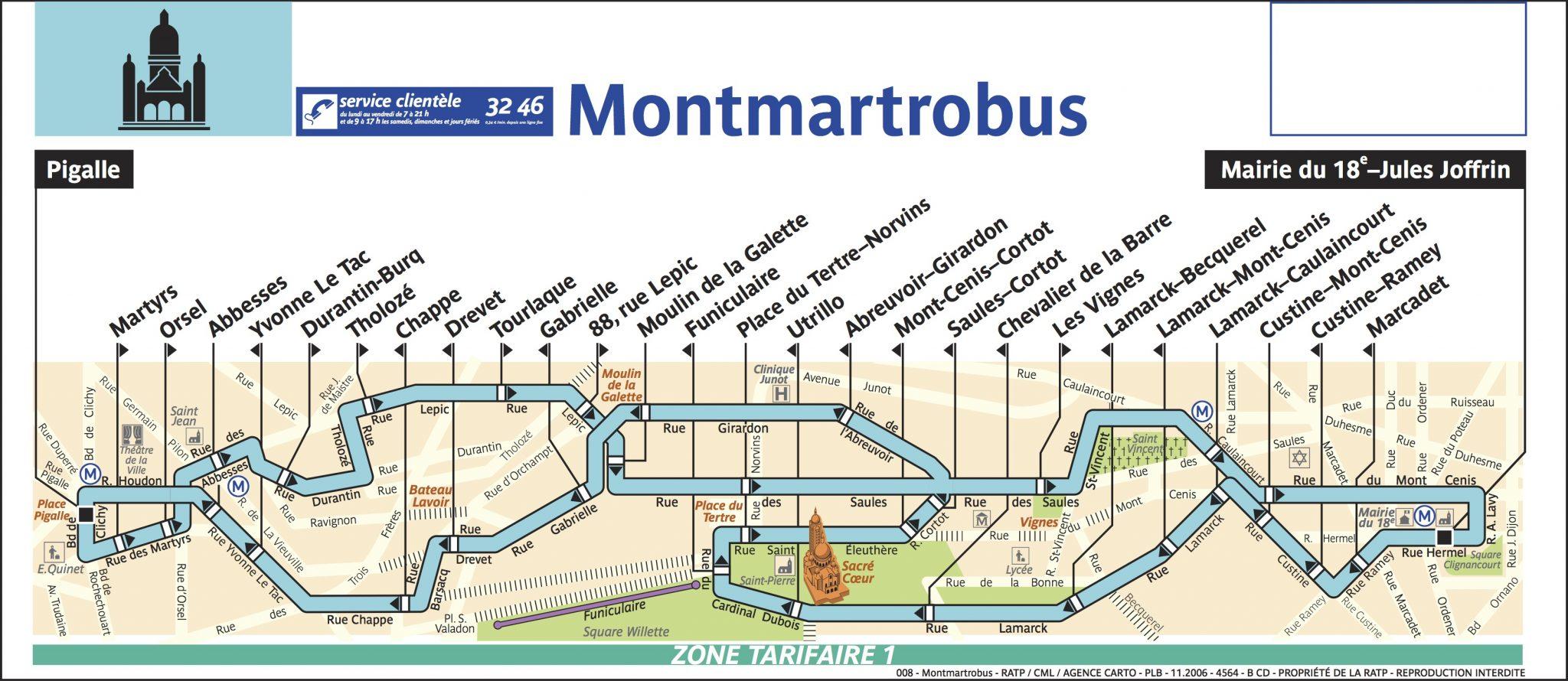 Montmartrobus plan