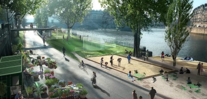 Новая пешеходная зона в Париже