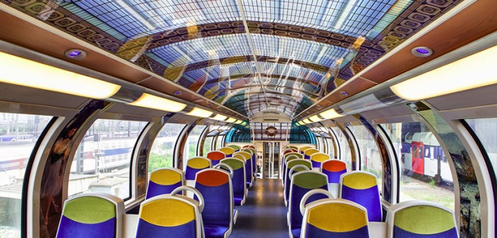Шикарно украшенные поезда Франции