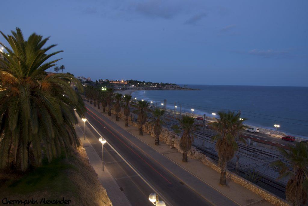Таррагона ночью